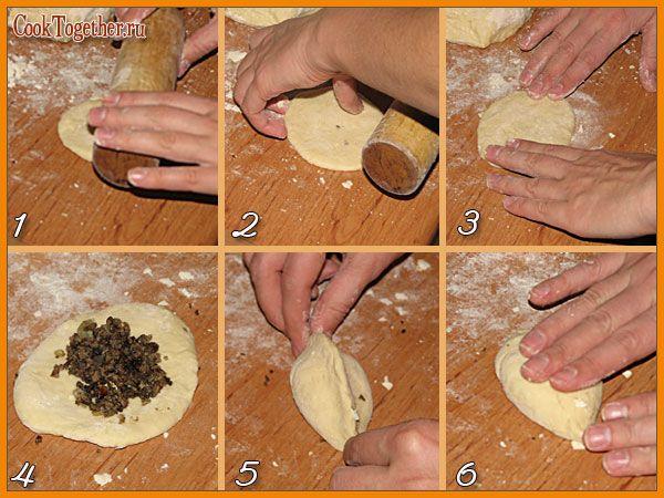 пирожки как лепить пошаговое фото