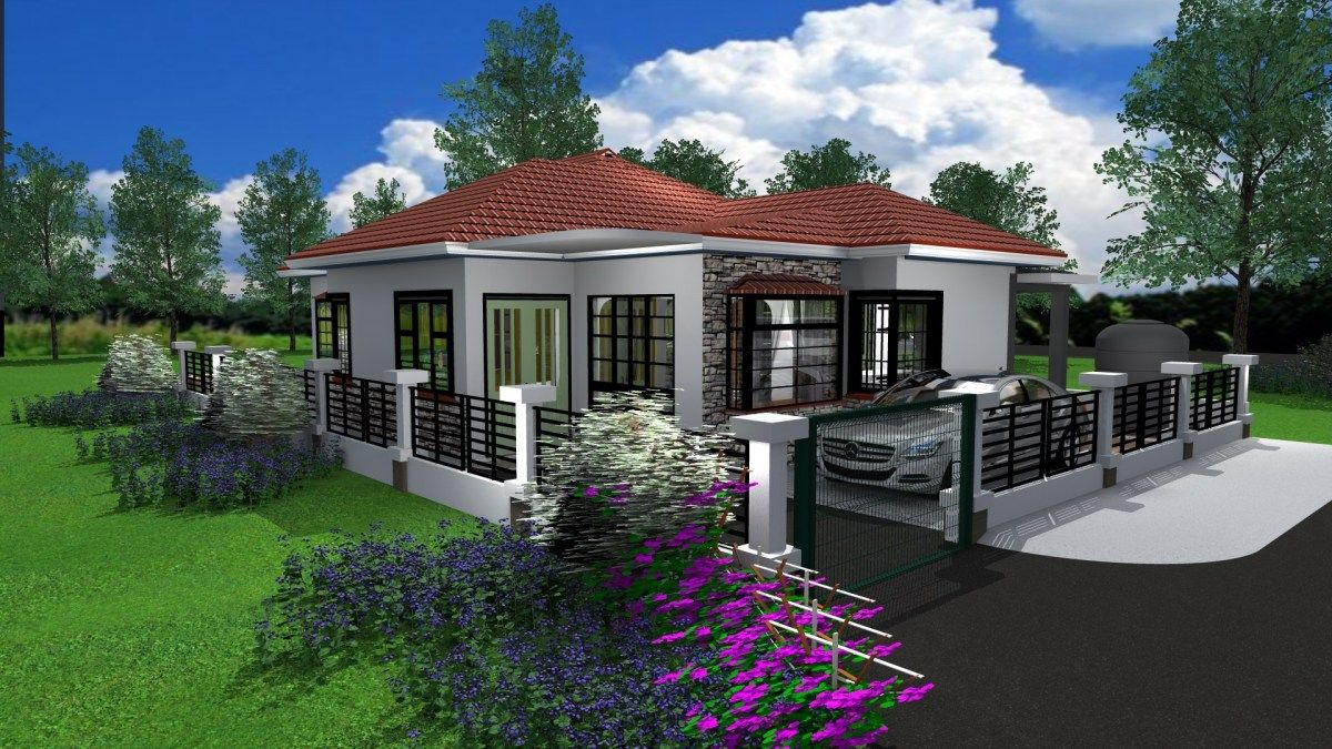 Three bedroom Bungalow House Design in Kenya in 2020 ...
