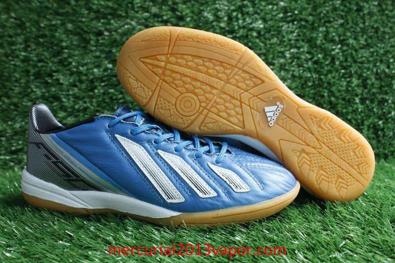 Adidas f50 adizero indoor messi soccer cleats blue white