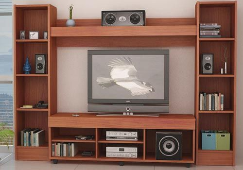 Muebles de melamina y madera plano de mueble para tv audio y vdeo