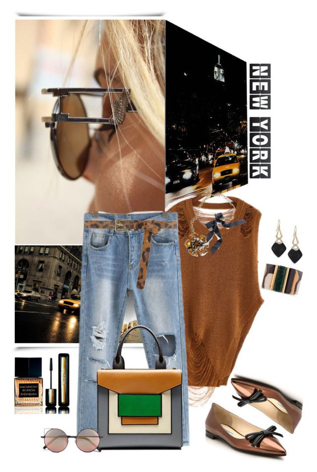 """Hip In NYC"" by akflow ❤ liked on Polyvore featuring Lanvin, Dorothy Perkins, Alexis Bittar, Marni, Prada, Guerlain, Pierre Hardy, Linda Farrow and Yves Saint Laurent"