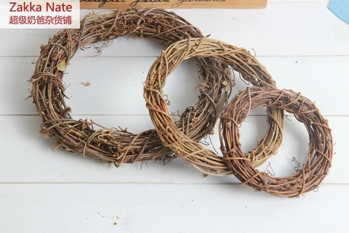 Zakka american country natural dried flowers rattan cane circle zakka american country natural dried flowers rattan cane circle decorative christmas ornaments decorations wedding supplies junglespirit Image collections