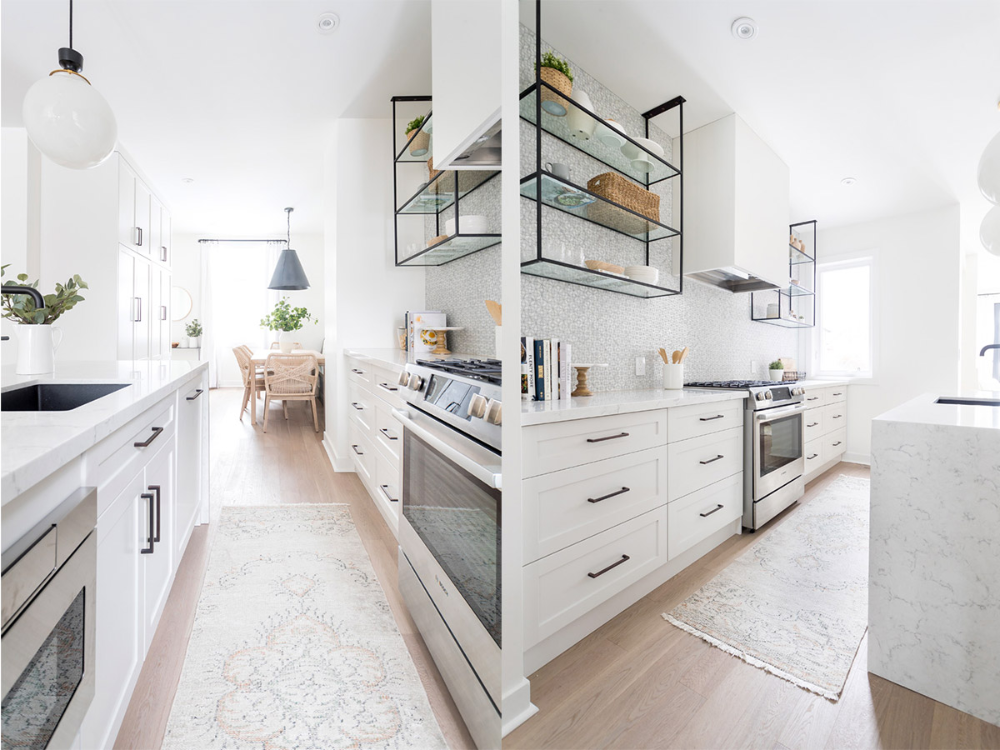 50 Gorgeous Galley Kitchens And Tips You Can Use From Them #whitegalleykitchens