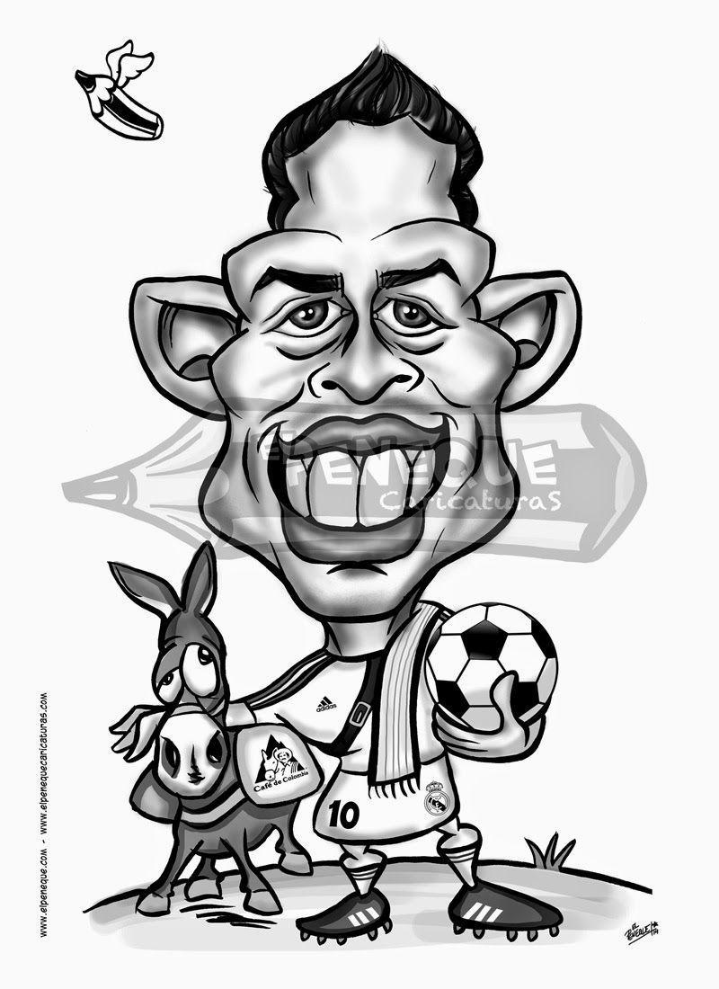 Caricatura De James Rodriguez Elpeneque Dibujo Y Caricaturas