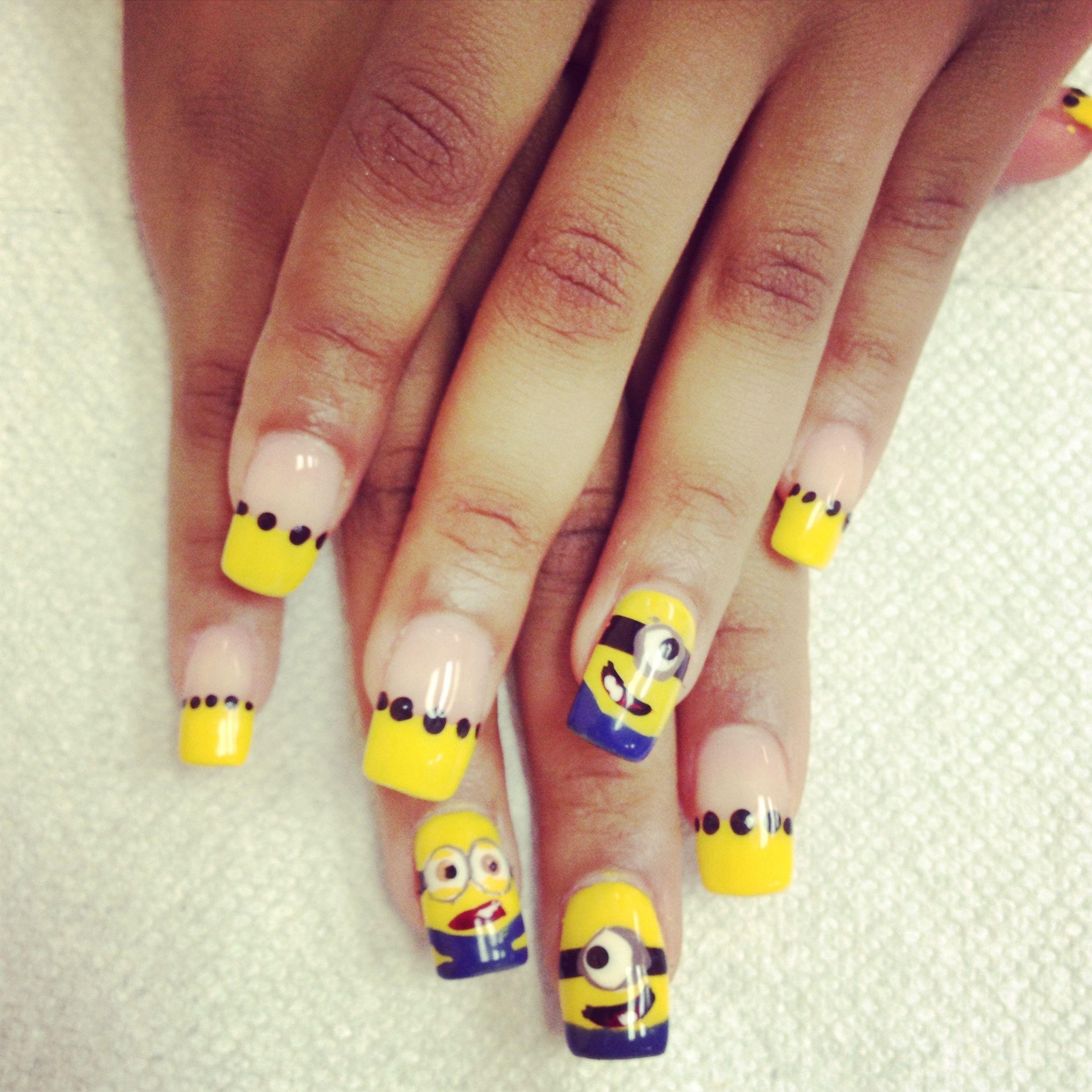 Nails art nails art at diva nails spa pinterest minion nail nails art prinsesfo Images
