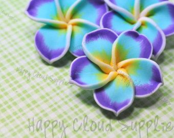 popular items for aqua blue and yellow on etsy | plumeria