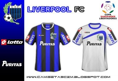 Liverpool Montevideo Of Uruguay Home And Away Shirts For 2010 Home And Away Liverpool Sports Jersey
