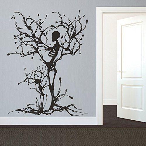 Robot Check Tree Wall Art Mural Art Halloween Wall Decor