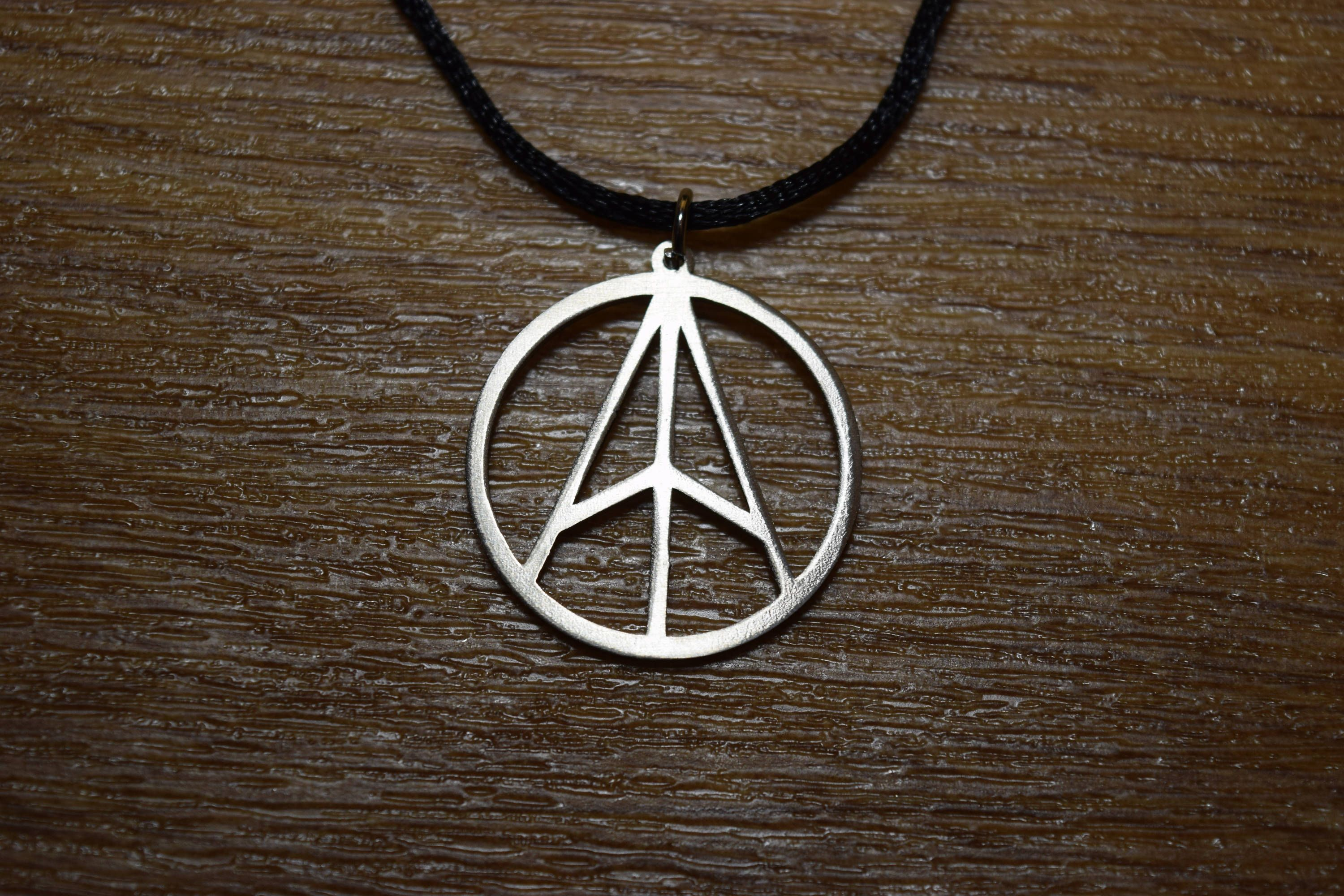 Anarcho Pacifism Necklace Anarcho Anarchy Cross Logo Necklace