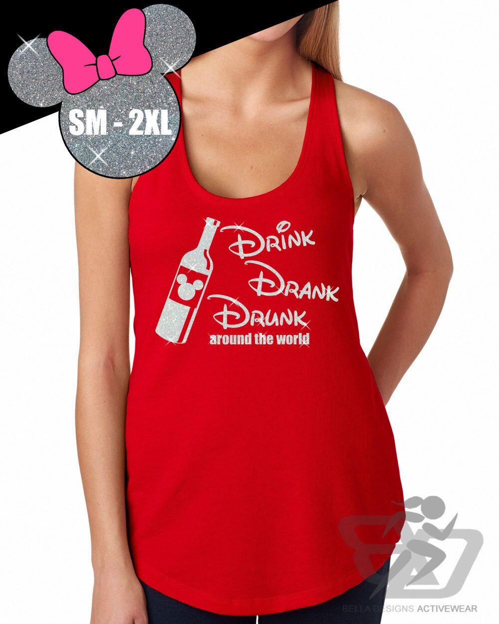 Glitter Epcot Food And Wine Festival Drinking Shirt Tank Etsy Disneyland Shirts Disney Graduation Drinking Shirts