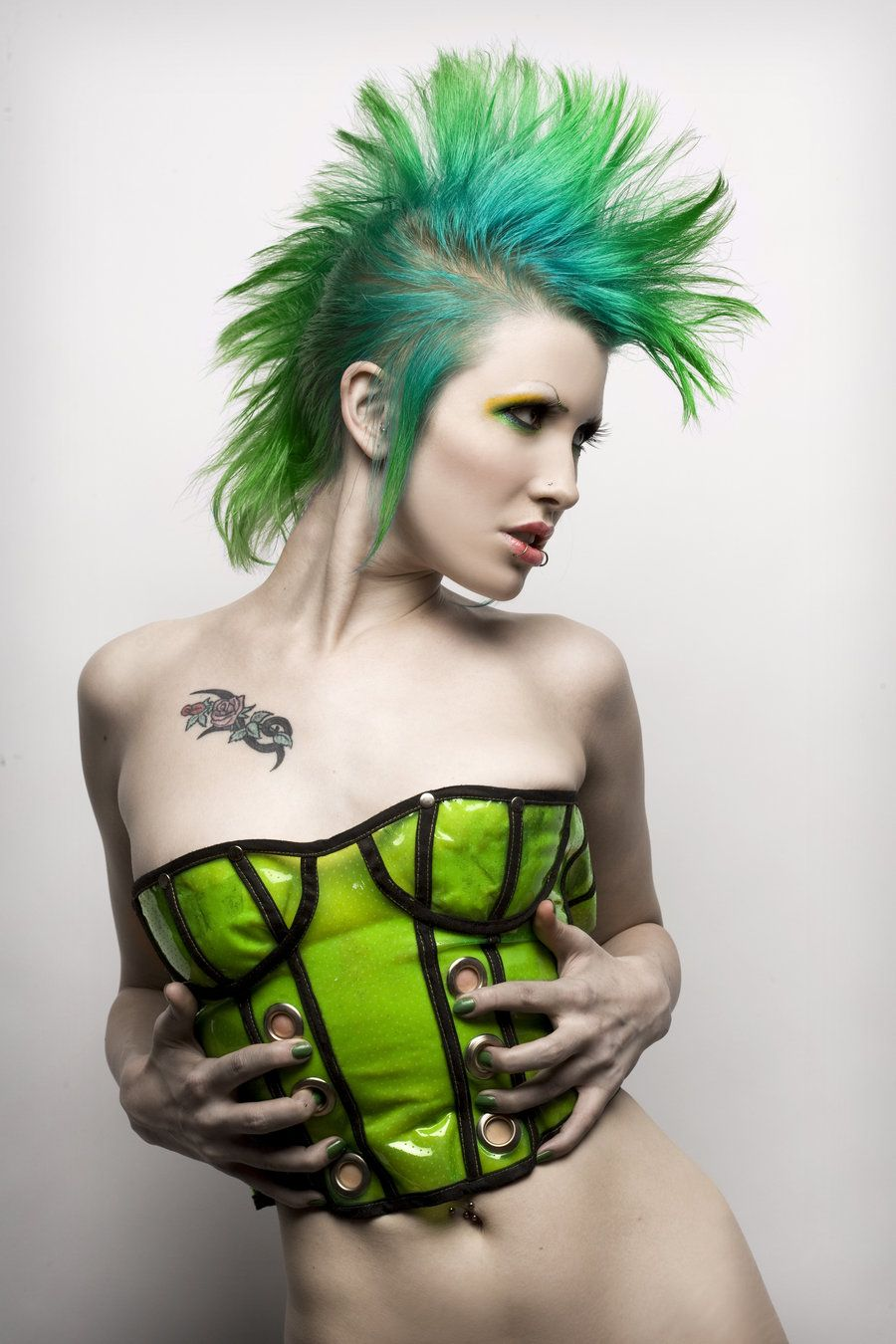 Green mohawk by ryosaysmeowviantart on deviantart