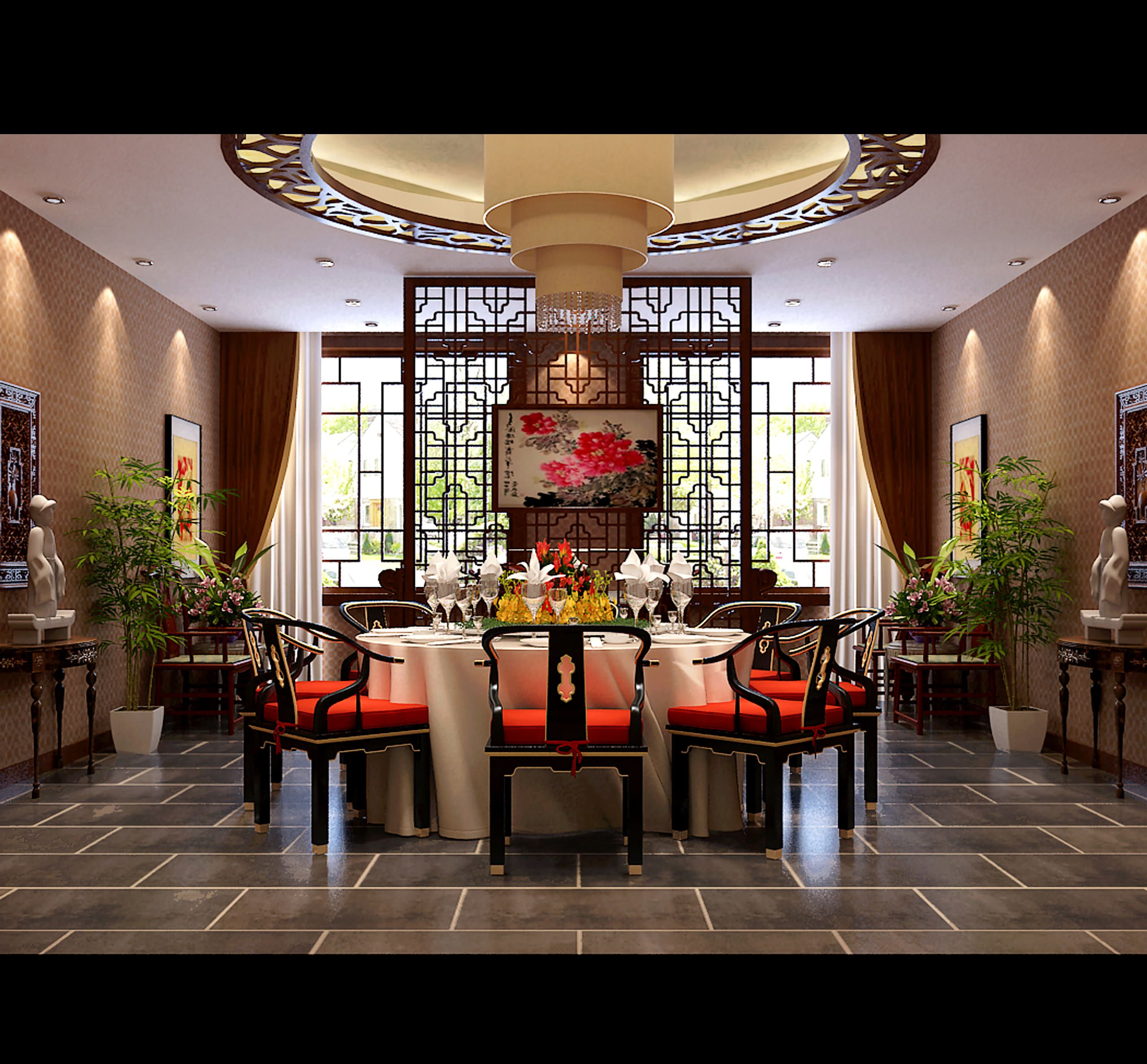 Decoration Interieur Asiatique Modern Chinese Style Spacious Modern Chinese Style Dining Room
