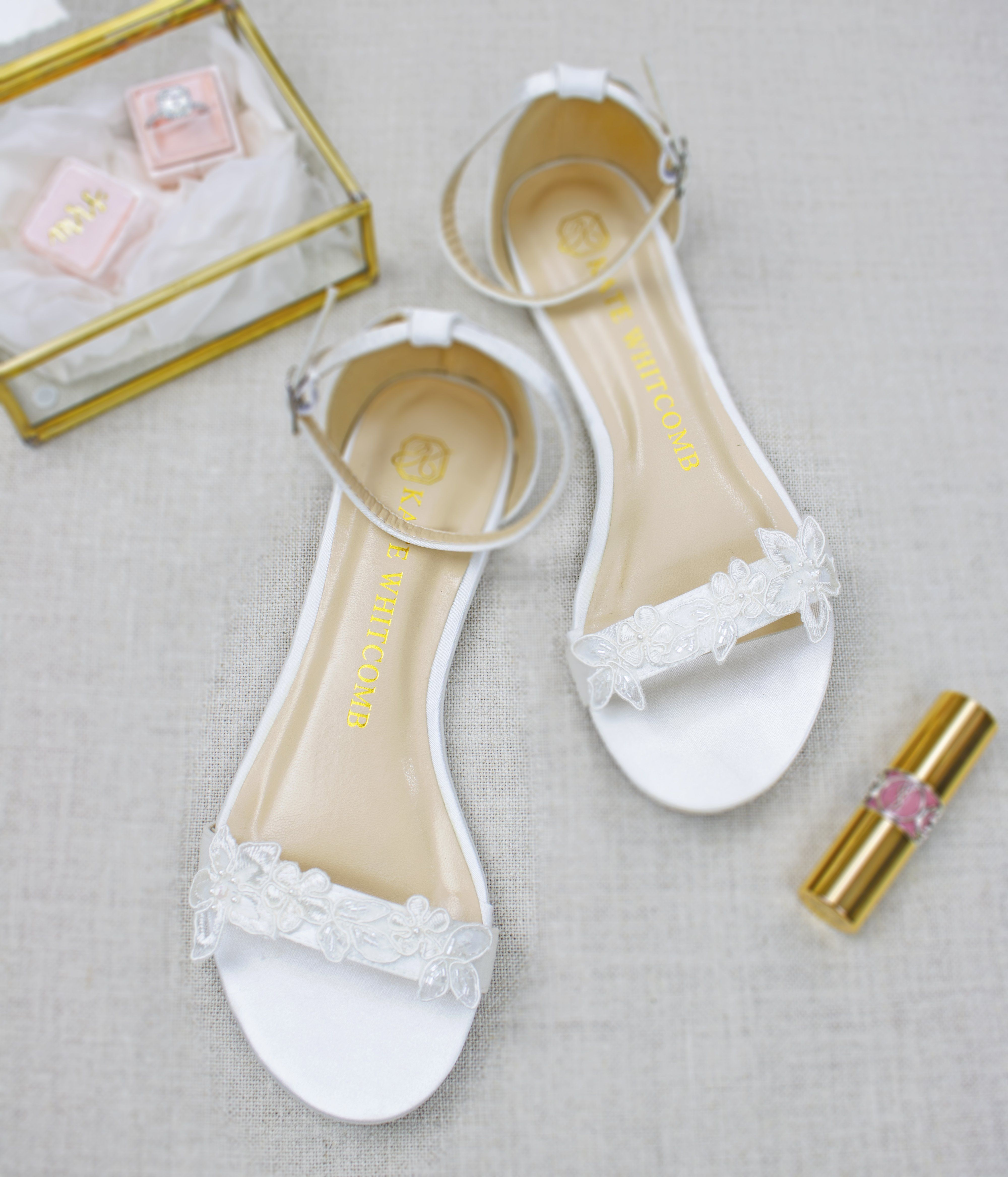 42ac5a4cd wedding flats, bridal heels, bride shoes, lace, flats, lily, ivory - Kate  Whitcomb Shoes