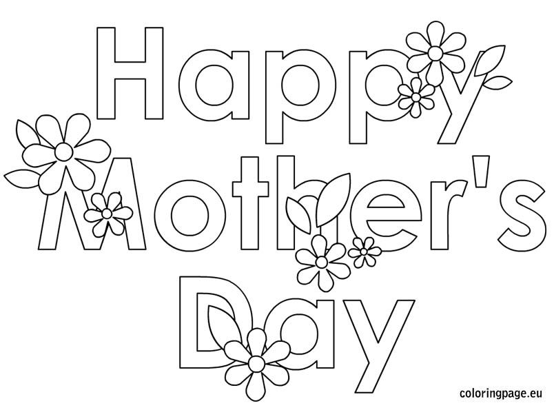 Mother's Day Coloring Page Personalized Pinterest