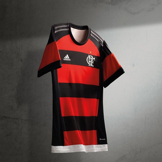 3b1ac6ad7dd79 Camisas do Flamengo 2015-2016 Adidas Titular