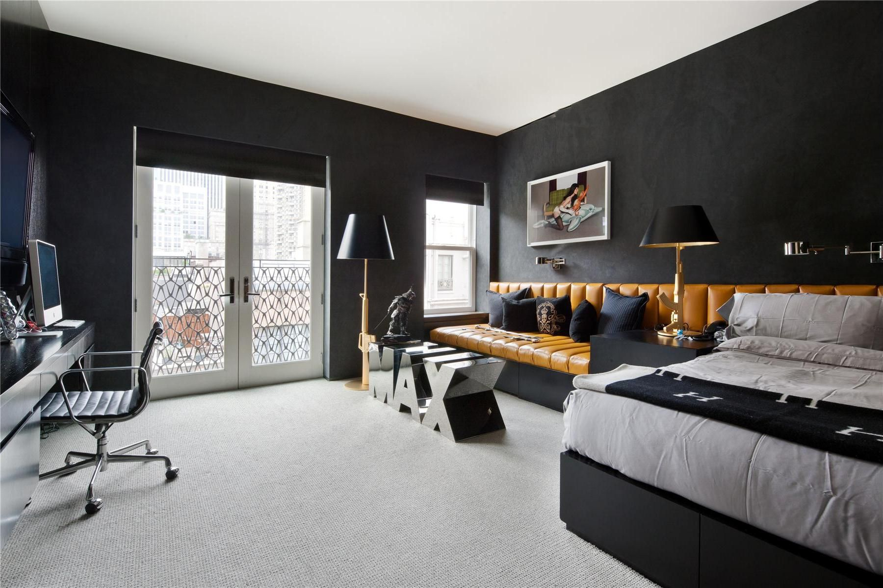 luxury apartment bedroom.  20 Million Triplex For Sale In East Side New York City Black BedroomsLuxury Has Received A