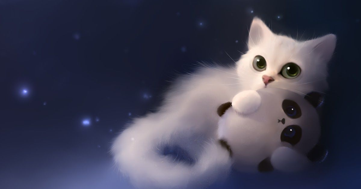 Wallpaper Anime Cute Cat Cute Anime Cat Cat Art Cat Artwork