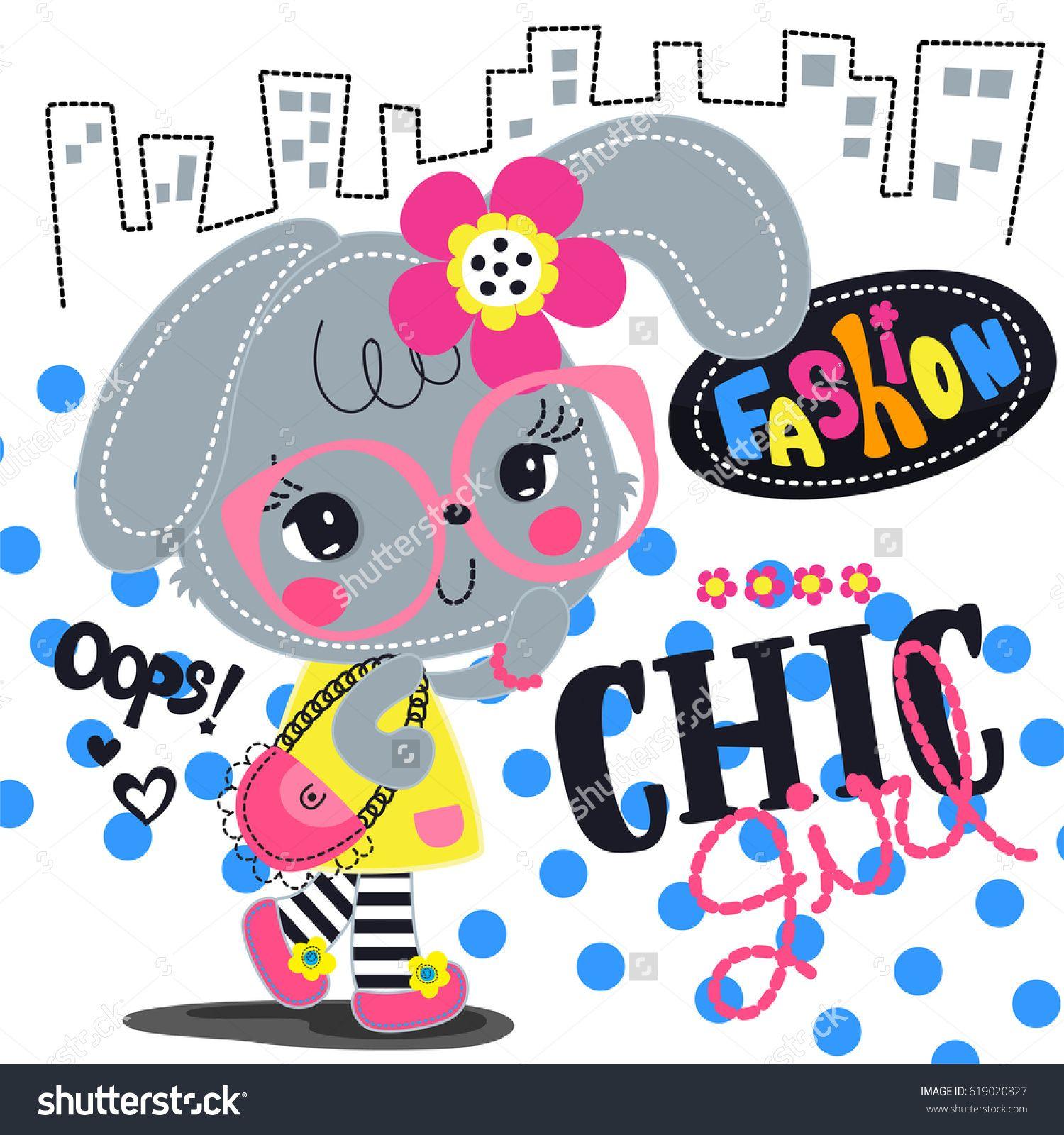 Cartoon beautiful rabbit girl wearing glasses and pink flower cartoon beautiful rabbit girl wearing glasses and pink flower headband with chic outfit walking in city izmirmasajfo