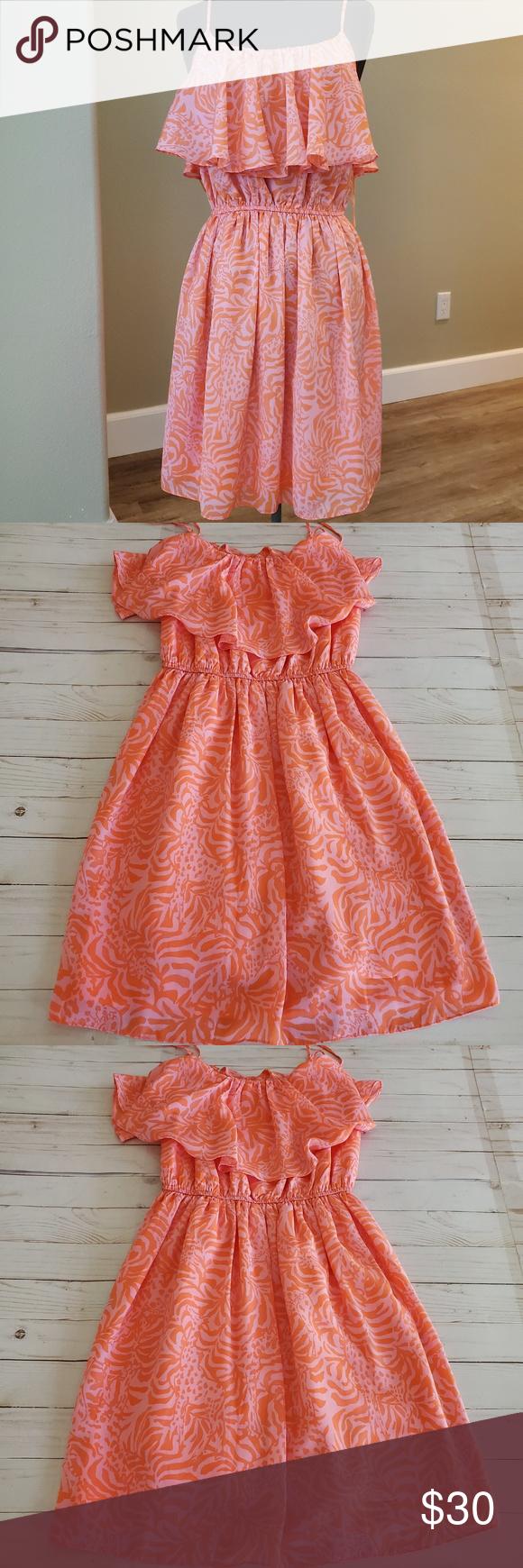 Lilly Pulitzer For Target Jungle Orange Dress Orange Dress Clothes Design Dresses [ 1740 x 580 Pixel ]