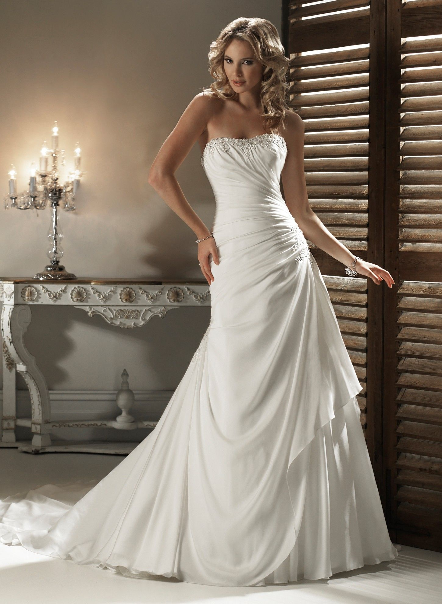 1000  images about Wedding dresses on Pinterest  A line ...