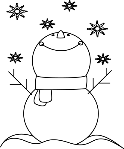 Snowflake clip art black and white