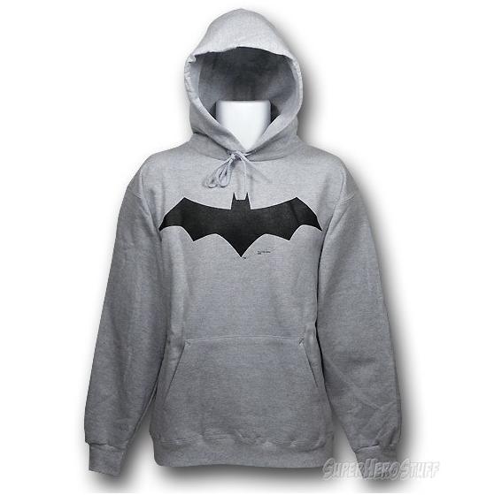 Adult Black DC Comics Super Hero Batman Classic Logo Hoodie Hooded Sweatshirt