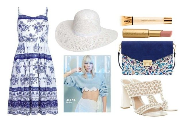 """""""summer style"""" by marie-berge ❤ liked on Polyvore featuring Dorothy Perkins, Alexander McQueen, Mellow World, Yves Saint Laurent, Too Faced Cosmetics, StreetStyle, summerstyle and StreetChic"""