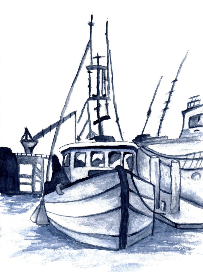 fishing boat sketch image gallery photonesta [ 800 x 1069 Pixel ]
