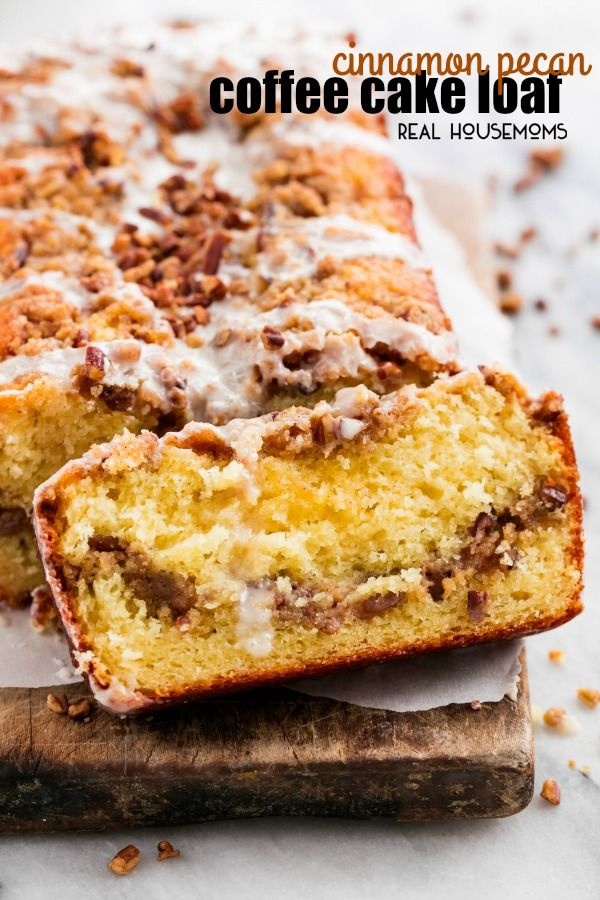 Cinnamon Pecan Coffee Cake Loaf Is Moist Flavorful And