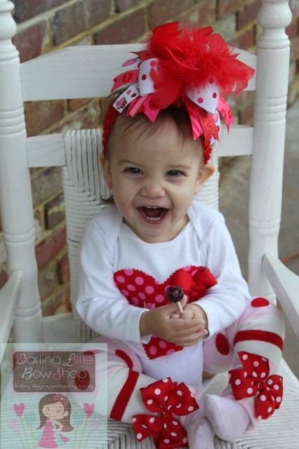 Over The Top Boutique Valentine Outfit SET by DarlingLittleBowShop