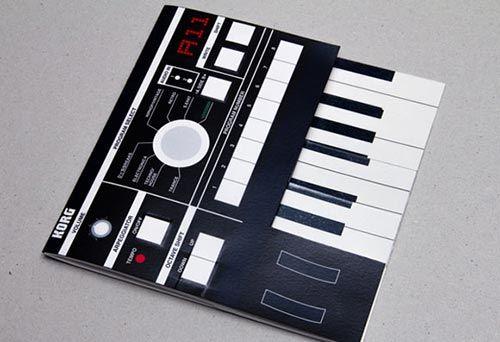 30 Creative Die Cut Brochure Design album of painting 画册手册 - music brochure