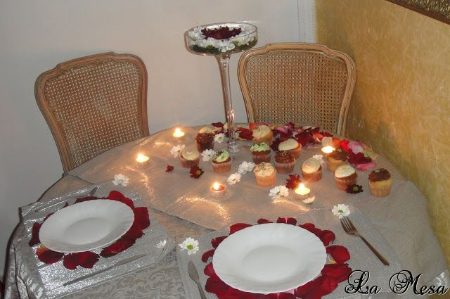 Deco mesa cupcake para romance cenas rom nticas - Noche romantica en casa ideas ...