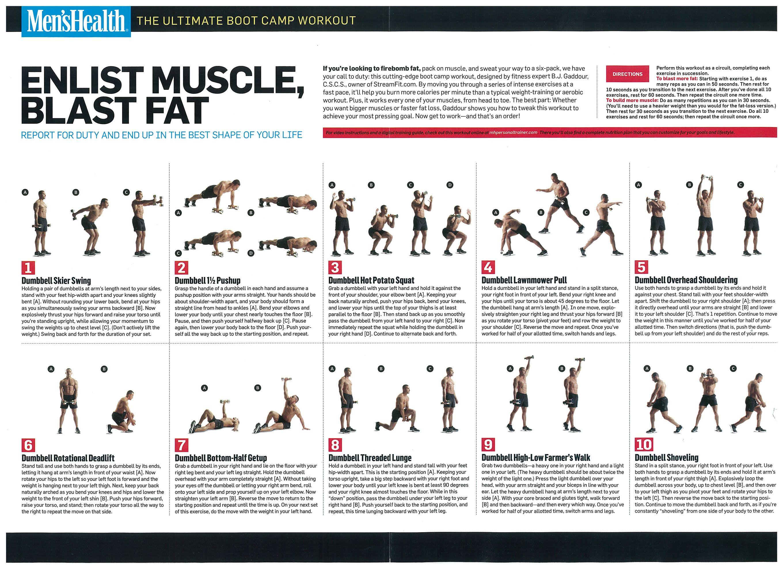 mens health diet workout plan