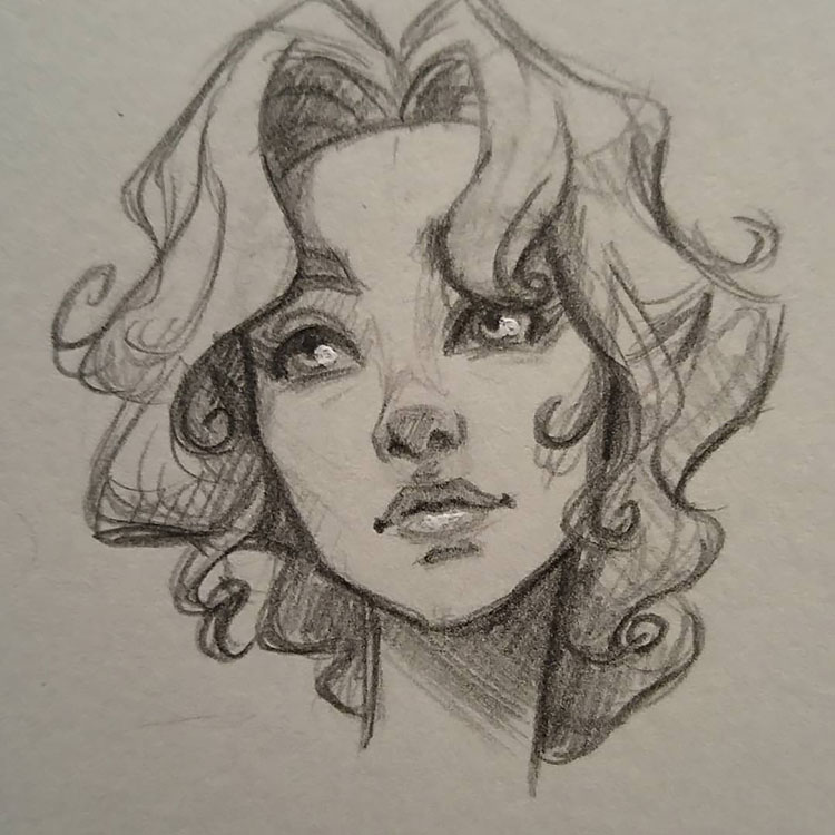 50+ Awesome Female Character Sketch Ideas