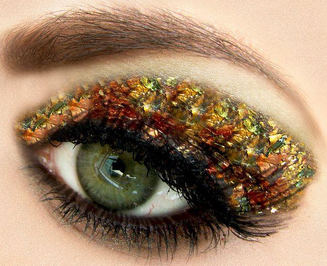 Gold Leaf Eye Makeup Pinterest Gold Glitter Eyeshadow Makeup