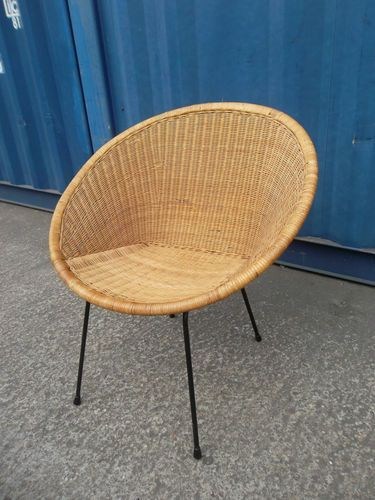 Cool Vtg 50S 60S Retro Bar Modernist Atomic Era Wicker Cane Download Free Architecture Designs Scobabritishbridgeorg