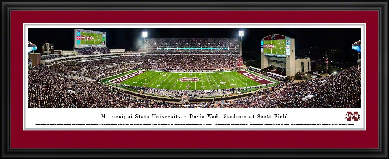 Mississippi State Bulldogs Football Panoramic Picture