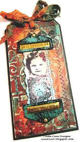 PaperArtsy: This one is from Linda Cain using Fresco Finish Acrylics and a PaperArtsy Mini