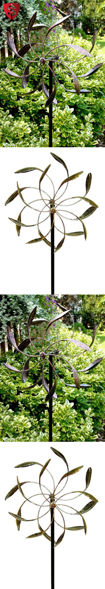 Windmills And Wind Spinners 115772: Garden Wind Spinner Yard Décor Windmill  Outdoor Metal Stake Kinetic
