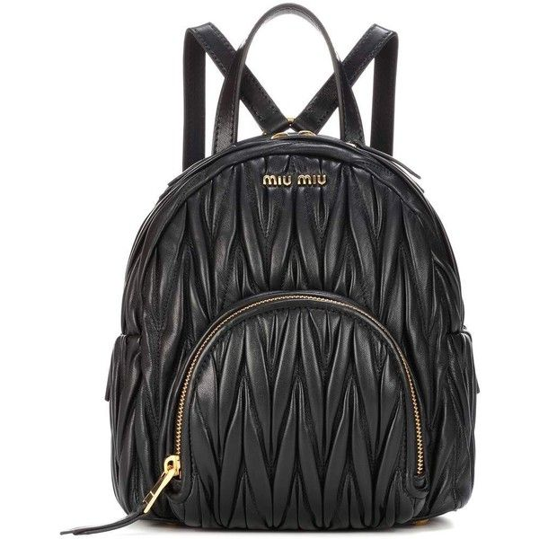 Miu Miu Matelassé Leather Backpack Bag (7.660 BRL) ❤ liked on Polyvore  featuring bags 564bb0748e