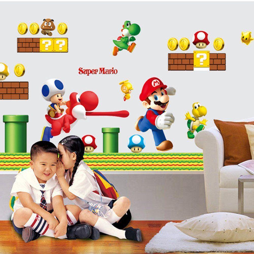 Super Mario Wanddekoration - Wandaufkleber | Super Mario ...