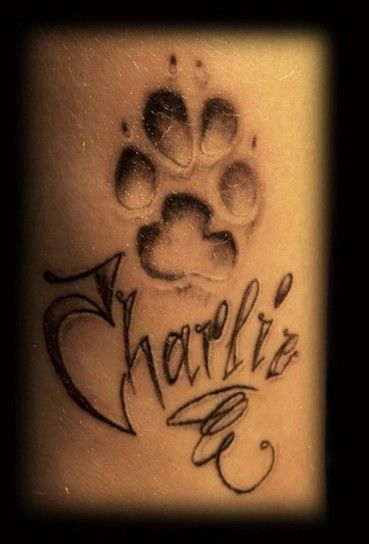charlie,tatuaggio,nome,stilizzato Tatuaggi X, Tatuaggi Stampa, Tatuaggi Di  Cane