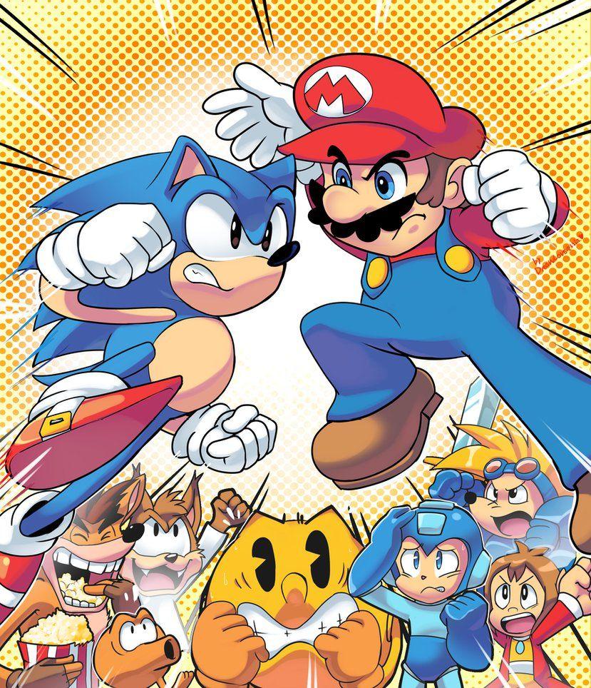 Reunião dos que, pra mim, são os maiores mascotes já criados para os games: Mario, Sonic e Crash. Deu bastante trabalho e levou um bom tempo pra terminar, mas foi muito gratificante ...