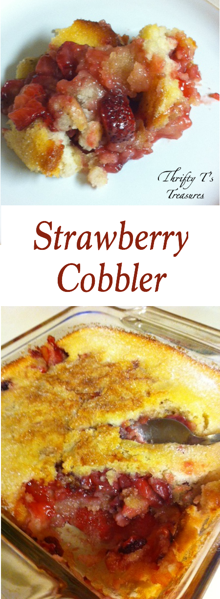 Strawberry Cobbler #easydesserts