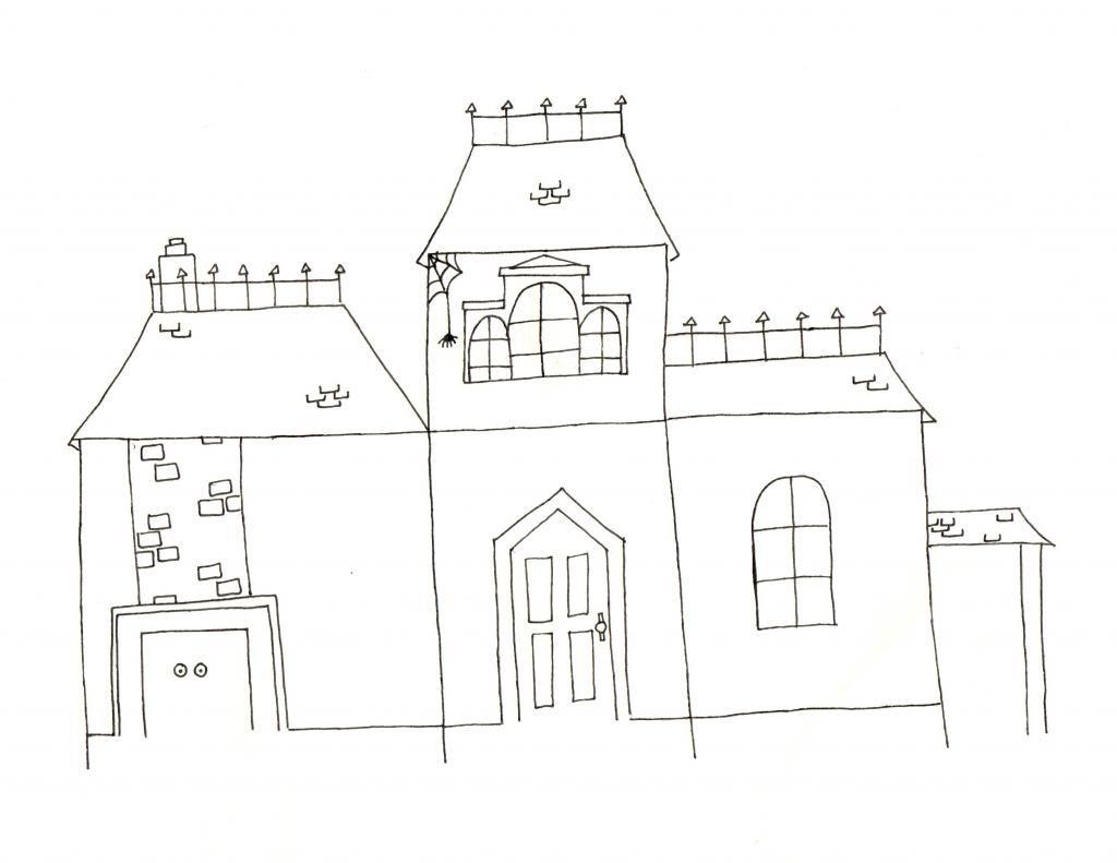 A Lovely Lark Haunted House Printable 2