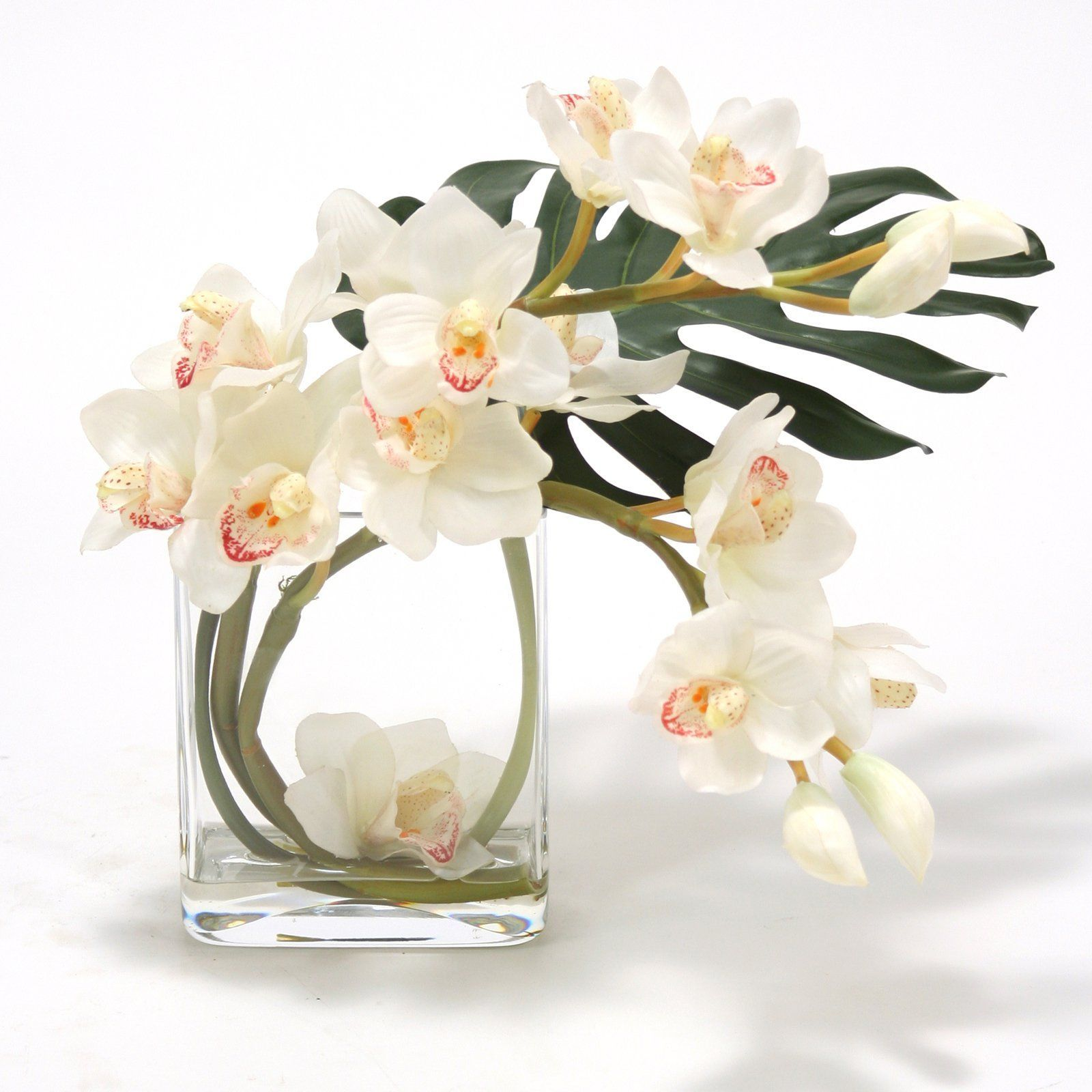 Distinctive Designs Waterlook White Silk Orchid Flower Arrangement ...