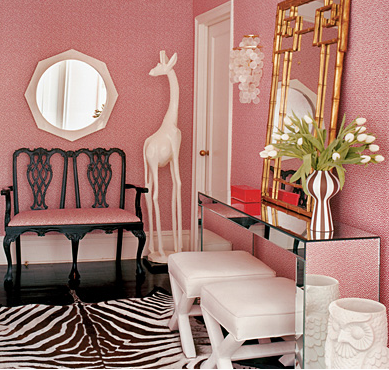 Giraffe and owl amongst hollywood regency | Animal Accents ...