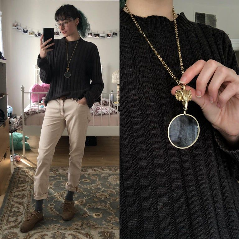 styled my outfit around this necklace. womensstreetwear