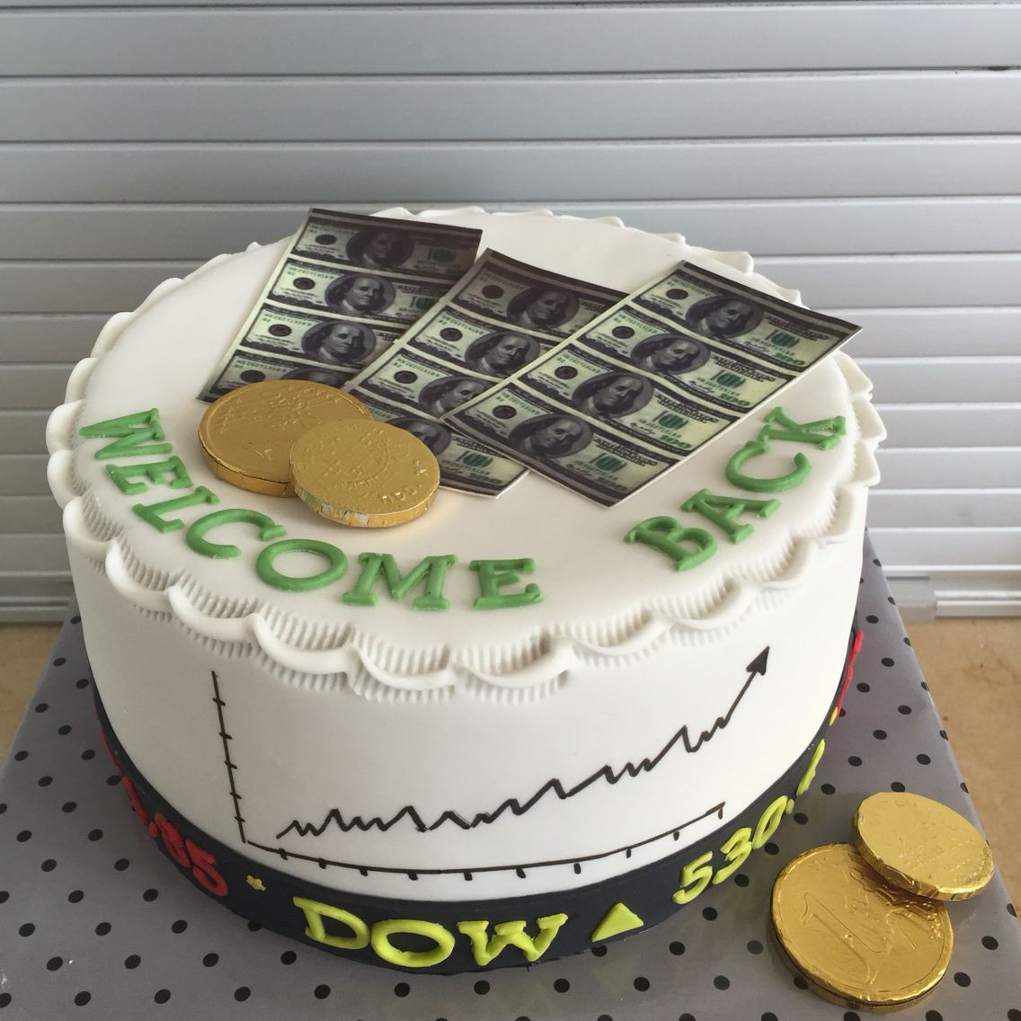 Dow Jones Stock Exchange Cake In 2019 Cake Stock Cake
