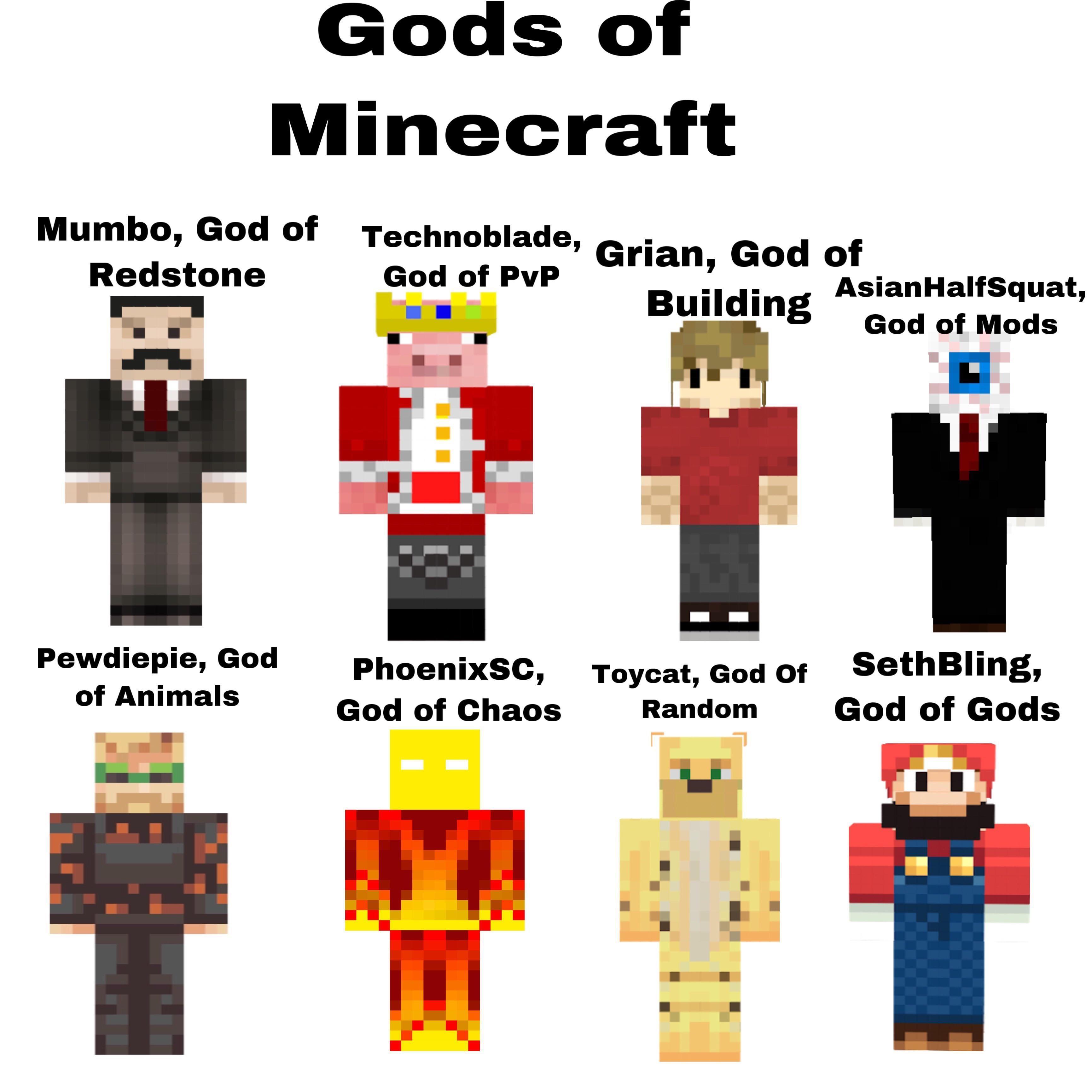 Gods Of Minecraft R Minecraftmemes Minecraft Minecraft Funny Minecraft Minecraft Memes